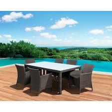 Mainstays Wicker 5 Piece Patio Dining Set Seats 4 - hampton bay posada 7 piece patio dining set with gray cushions 153