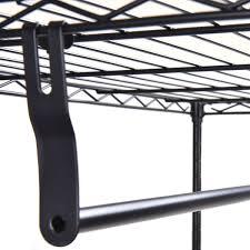 3 tier clothing garment rack hanger shelving wire shelf closet