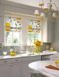Kitchen Window Curtains Ideas by Modern Kitchen Window Curtains Fully Lined With Floral Pattern
