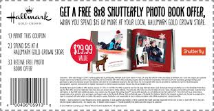 free photo book by shutterfly with hallmark coupon