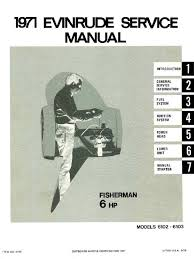 1971 evinrude fisherman 6hp outboards service manual 4746 pdf