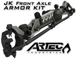 jeep wrangler front axle artec jk front axle armor kit
