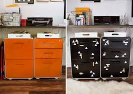 Orange Filing Cabinet Metal File Cabinet Makeover A Beautiful Mess