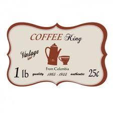 stickers de cuisine sticker autocollant pour la cuisine style rétro plaque café