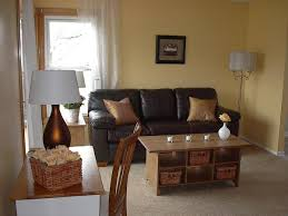 Modern Single Wooden Sofa Living Room Modern Home Living Room With Brown Wall Combined
