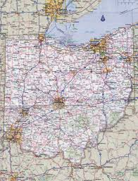 Cities In Ohio Map by Large Detailed Roads And Highways Map Of Ohio State With National