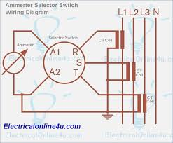 wiring diagram rotary switch for ammeter selector switch wiring