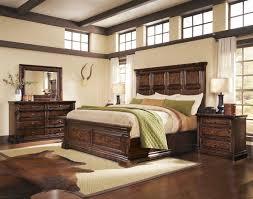 bedroom whiskey oak rustic inspired wooden panel bedroom set