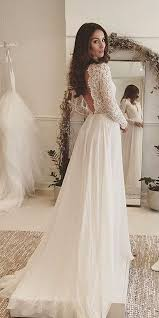 backless wedding dress new arrival wedding dress v neck sweep lace backless
