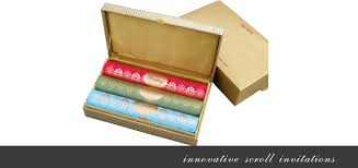indian wedding scroll invitations add a majestic element to your wedding with indian wedding cards