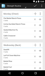 Bench Press Program Chart Fitnotes Gym Workout Log Android Apps On Google Play