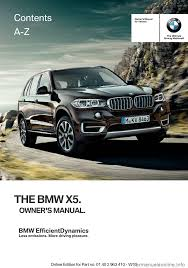 bmw x5 2015 f15 owner u0027s manual
