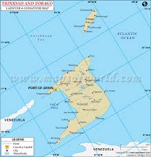 where is and tobago located on the world map and tobago latitude and longitude map