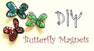Butterfly Home Decor Diy Butterfly Magnets Using A Plastic Bottle Cute Home Decor