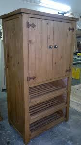 rustic waxed reclaimed pine kitchen larder u0027veg u0027 cupboard finished