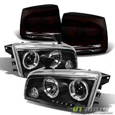 2008 dodge charger lights 2006 2008 dodge charger halo projector headlights black tinted