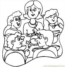 thanksgiving dinner 6 coloring page free thanksgiving day