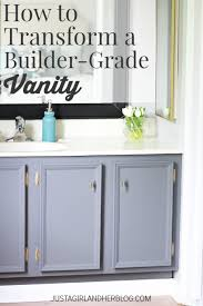 builder grade how to transform a builder grade vanity just a girl and her blog