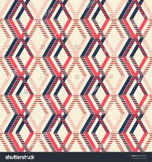 Pleasant Theme Abstract Seamless Geometric Pattern Intertwined Rhomboid Stock