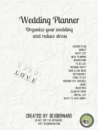 your wedding planner my secret to organized stress free wedding planning bexbernard