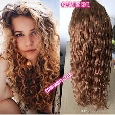 cheap 8a grade 27 honey blonde color water wave indian human