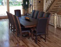 good rustic dining room table set best theme rustic dining room