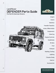 land rover drawing land rover defender parts guide for north american owners by
