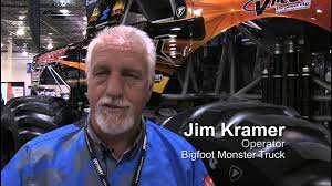 bigfoot monster truck st louis jim kramer bigfoot all electric monster truck driver youtube