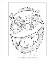 Printable Easter Bonnet Decorations by 21 Easter Coloring Pages Free Printable Word Pdf Png Jpeg