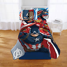 Marvel Bedding Marvel Avengers Bed In A Bag 5 Piece Twin Bedding Set With Bonus