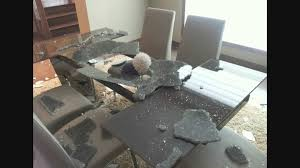 Living Room Glass Table A Glass Dining Room Table Top Explodes Youtube