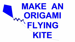 how to make a flying origami kite fun kid u0027s craft turkish