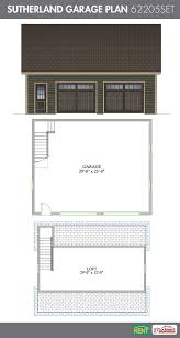 garage plans with bonus room sutherland garage plan 30 u0027 x 24 u0027 2 car garage 348 sq ft bonus