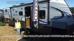 Zinger Travel Trailers Floor Plans by Crossroads Zinger Zt27bk Youtube