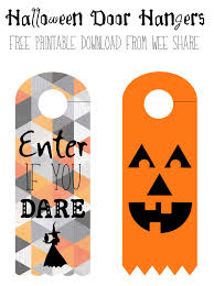 printable halloween door hangers free download wee share