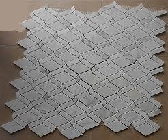 aliexpress com buy rhombus carrara white marble mosaic tiles
