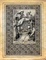 skeleton grimoire poster halloween witch sign skeleton enter sign