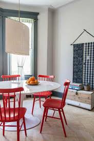 dinning dining room table and chairs leather dining chairs red