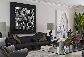 livingroom wall decor stylish apartment living room wall decor ideas with chrome cube