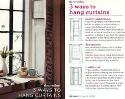 best way to hang curtains ways hang curtains traditional height enhancing tierra este 47613