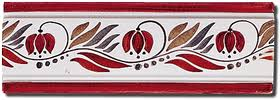 frise faience cuisine carrelage frise 7 5 x 22 canule motif design faïence de