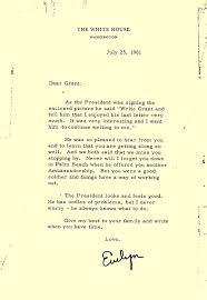 letters from jfk u0027s personal secretary evelyn lincoln u2014 grant