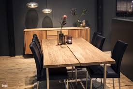 Black Dining Table Red Backdrop Gray Dining Chairs Natural Dining Table Dining Sets