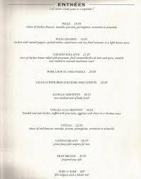 Filet Mignon Menu Dinner Menu
