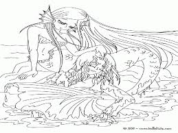 coloring pages mermaid kids coloring