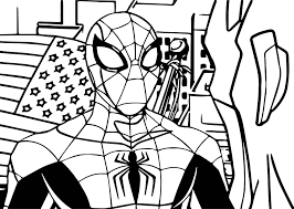 avengers spiderman coloring page wecoloringpage