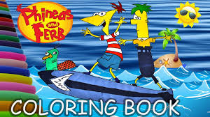 phineas and ferb coloring book for kids coloring page for ferb