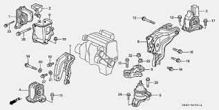 2004 honda odyssey engine mounts h23 h22 rear engine mount bracket compatible honda tech