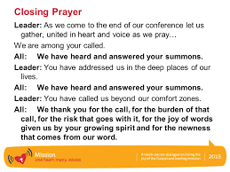 closing prayer leader as we come to the end of our conference let