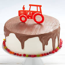 tractor cake topper personalised tractor birthday cake topper by owl otter